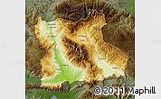 Physical Map of Blagoevgard, darken