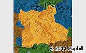 Political Map of Blagoevgard, darken