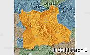 Political Map of Blagoevgard, semi-desaturated