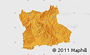 Political Map of Blagoevgard, single color outside