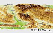 Physical Panoramic Map of Blagoevgard