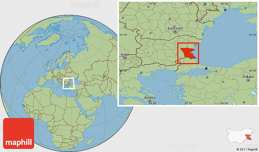 Savanna Style Location Map of Burgas