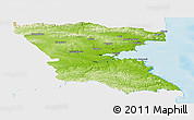 Physical Panoramic Map of Burgas, single color outside
