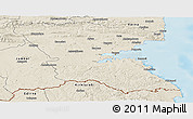 Shaded Relief Panoramic Map of Burgas