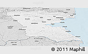 Silver Style Panoramic Map of Burgas