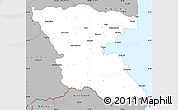 Gray Simple Map of Burgas