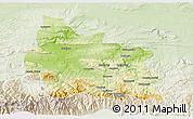 Physical 3D Map of Gabrovo, lighten