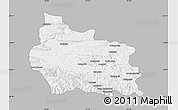 Gray Map of Gabrovo, single color outside