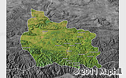 Satellite Map of Gabrovo, desaturated