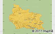 Savanna Style Map of Gabrovo, single color outside