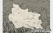Shaded Relief Map of Gabrovo, darken