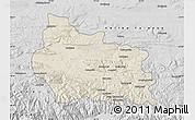 Shaded Relief Map of Gabrovo, desaturated