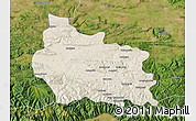 Shaded Relief Map of Gabrovo, satellite outside