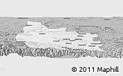 Gray Panoramic Map of Gabrovo