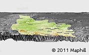 Physical Panoramic Map of Gabrovo, darken, desaturated