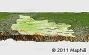 Physical Panoramic Map of Gabrovo, darken