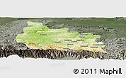 Physical Panoramic Map of Gabrovo, darken, semi-desaturated