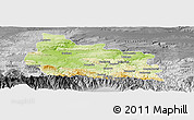 Physical Panoramic Map of Gabrovo, desaturated