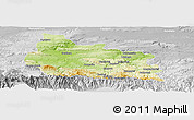 Physical Panoramic Map of Gabrovo, lighten, desaturated