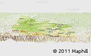 Physical Panoramic Map of Gabrovo, lighten
