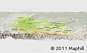 Physical Panoramic Map of Gabrovo, lighten, semi-desaturated