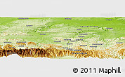 Physical Panoramic Map of Gabrovo