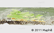 Physical Panoramic Map of Gabrovo, semi-desaturated