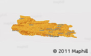 Political Panoramic Map of Gabrovo, cropped outside