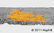 Political Panoramic Map of Gabrovo, desaturated