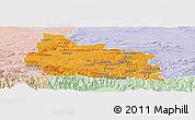 Political Panoramic Map of Gabrovo, lighten