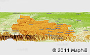 Political Panoramic Map of Gabrovo, physical outside