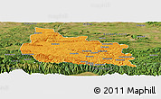 Political Panoramic Map of Gabrovo, satellite outside