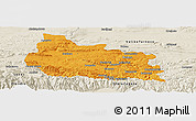 Political Panoramic Map of Gabrovo, shaded relief outside