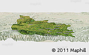 Satellite Panoramic Map of Gabrovo, lighten