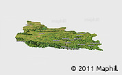 Satellite Panoramic Map of Gabrovo, single color outside