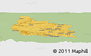 Savanna Style Panoramic Map of Gabrovo, single color outside