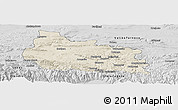 Shaded Relief Panoramic Map of Gabrovo, desaturated