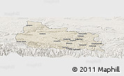 Shaded Relief Panoramic Map of Gabrovo, lighten