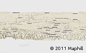 Shaded Relief Panoramic Map of Gabrovo