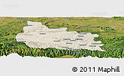 Shaded Relief Panoramic Map of Gabrovo, satellite outside