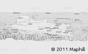Silver Style Panoramic Map of Gabrovo