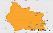 Political Simple Map of Gabrovo, cropped outside