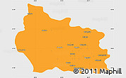 Political Simple Map of Gabrovo, single color outside