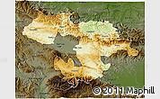 Physical 3D Map of Grad Sofija, darken