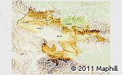 Physical 3D Map of Grad Sofija, lighten