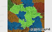 Political Map of Grad Sofija, darken