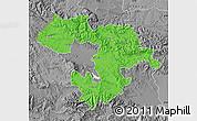 Political Map of Grad Sofija, desaturated