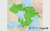 Political Map of Grad Sofija, lighten