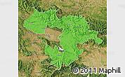 Political Map of Grad Sofija, satellite outside