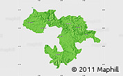 Political Map of Grad Sofija, single color outside